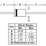 1N4001 - 1N4007 Dimensions
